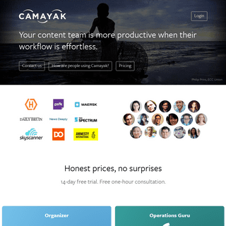 Camayak - Organize your newsroom