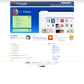MozTW, Mozilla 台灣社群 - Firefox - Thunderbird 正體中文版
