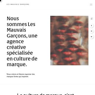 Les Mauvais Garçons - Culture de marque 🌹