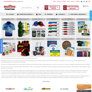 Promotional Products - Promotional Items Perth - MadDogPrints