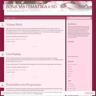 Zona Matematika 6 SD - Belajar Matematika it's Fun