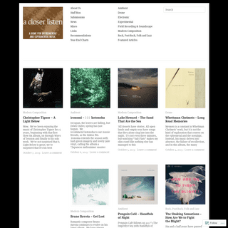 a closer listen - a home for instrumental and experimental music