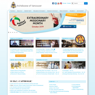 Homepage - Roman Catholic Archdiocese of Vancouver