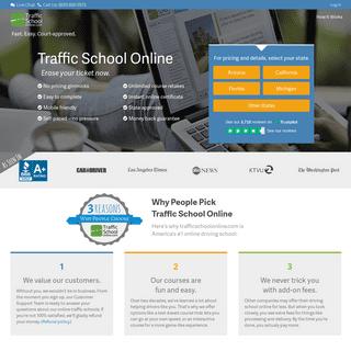 TrafficSchoolOnline.com - Fast and easy online traffic school