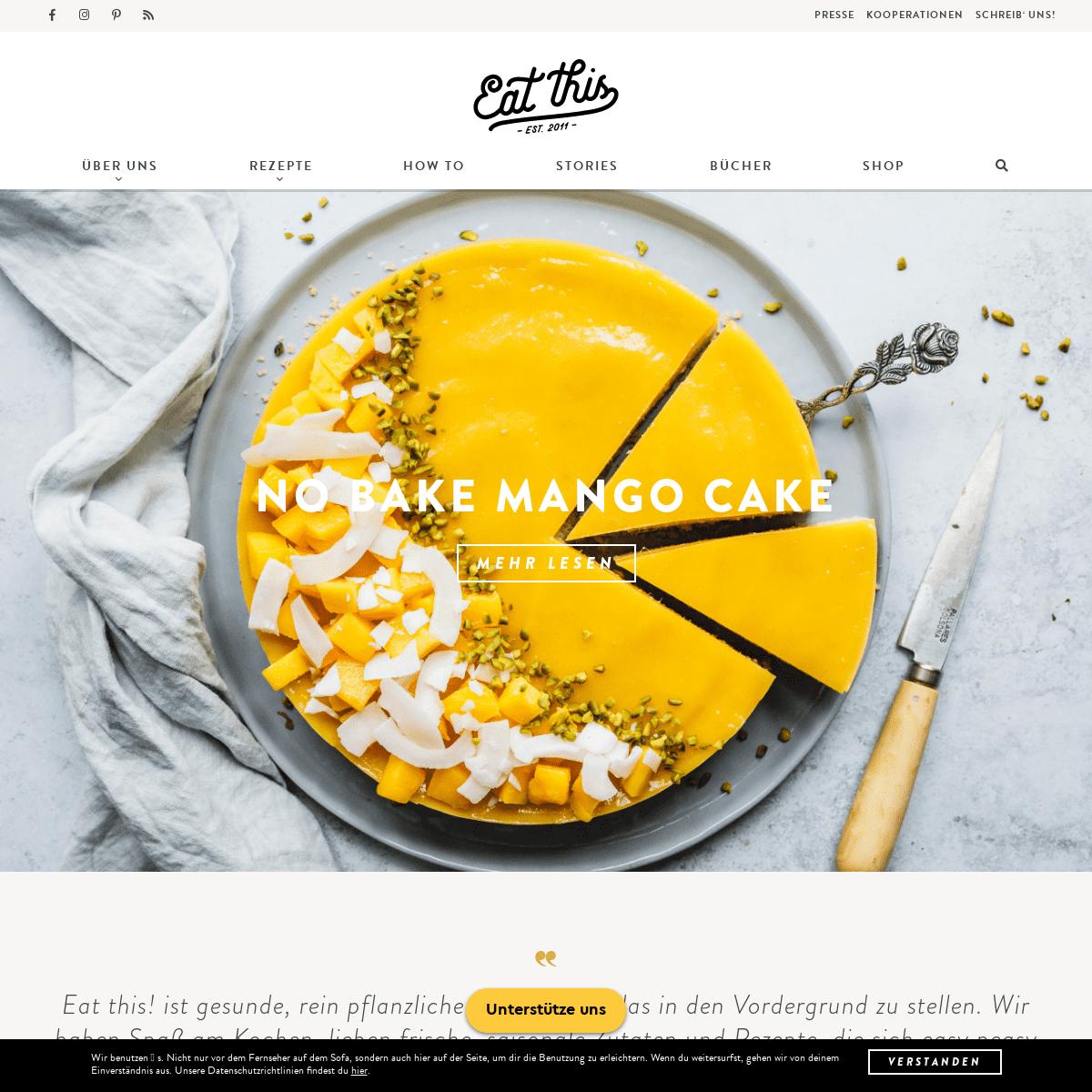 Eat this! Foodblog - Gesunde, vegane Rezepte • Food Fotografie • Stories