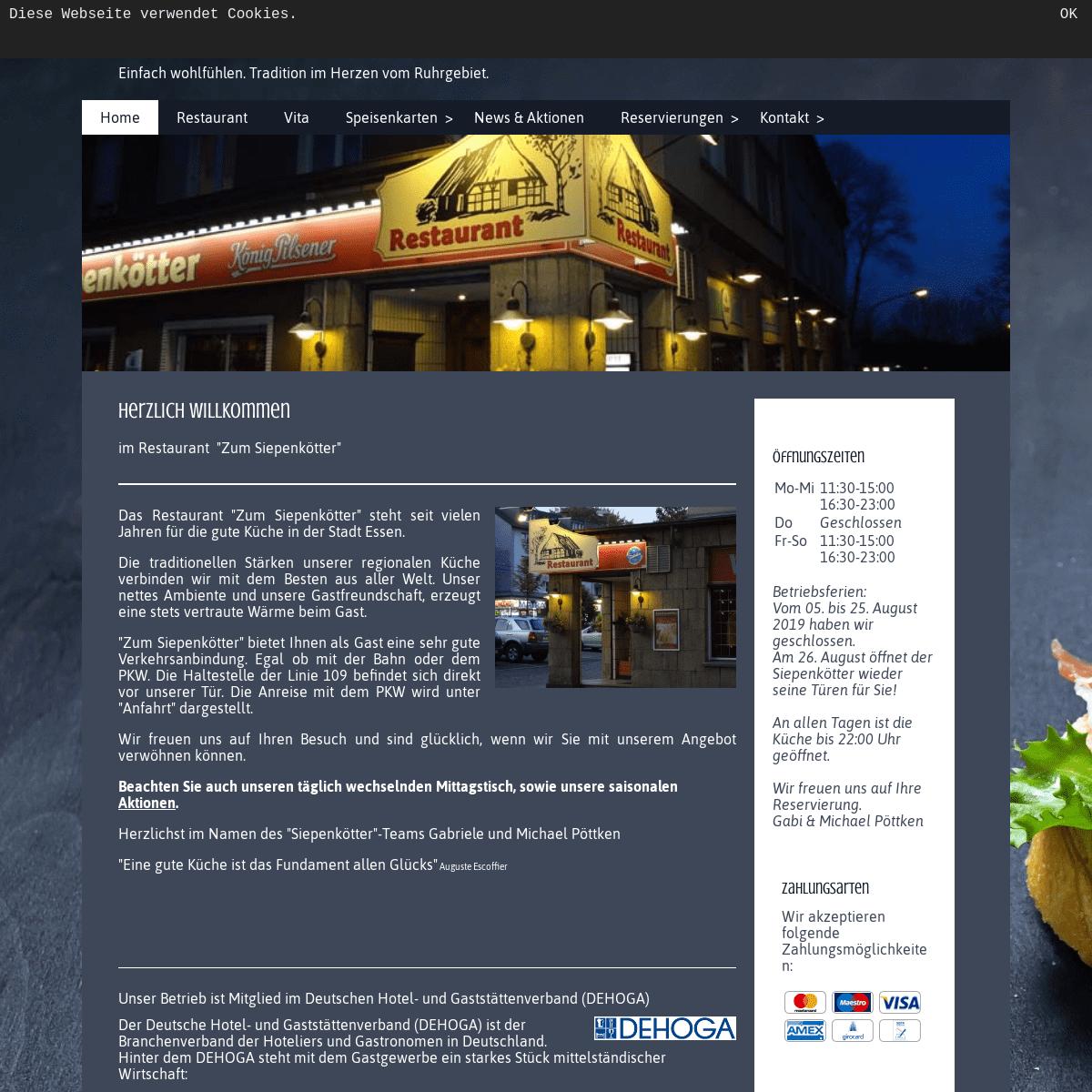 ArchiveBay.com - zumsiepenkoetter.de - Ihr Restaurant -Zum Siepenkötter- in Essen - Home