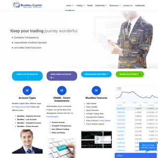 ArchiveBay.com - bluemaxcapital.com - BlueMax Capital - ECN Forex Trading Broker, PAMM FX Investments