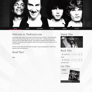 The Knack -My Sharona- - The Official Website of The Knack