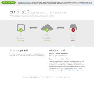scnez.com - 520- Web server is returning an unknown error