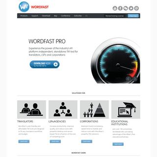 Wordfast- World's #1 provider of platform-independent Translation Memory technology