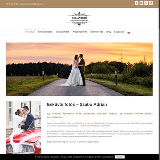 Esküvői fotós - Szabó Adrián esküvő fotós weboldala.