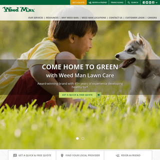 Lawn Care Services - Fertilization and Weed Control - Weed Man USA