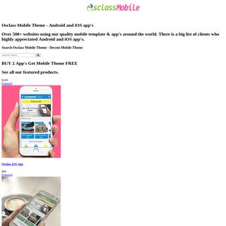 Osclass Mobile Theme - Decent Mobile Theme
