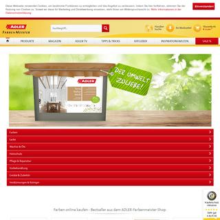 Farben Shop - Farbe online kaufen bei ADLER Farbenmeister