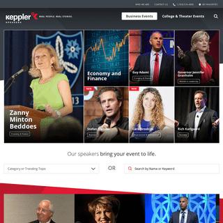 Business Event Speakers - Keppler Speakers Bureau