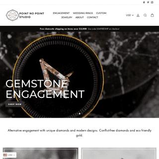 Unique Engagement Rings - Rough Uncut Diamonds - Point No Point Studio