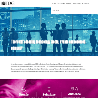 Home - IDG Communications - Australia