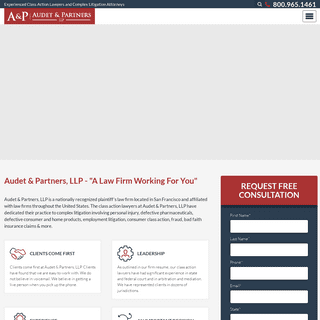 Audet & Partners, LLP - Class Action Lawsuit Attorneys California