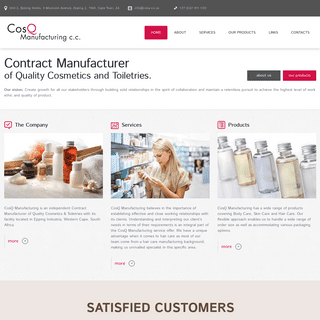 ArchiveBay.com - cosq.co.za - CosQ Manufacturing c.c. - Contract Manufacturer of Quality Cosmetics and Toiletries