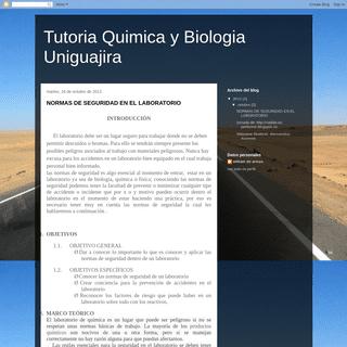 Tutoria Quimica y Biologia Uniguajira