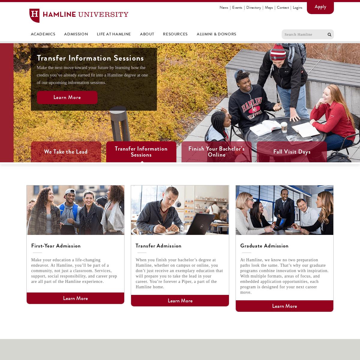 Hamline University - Saint Paul, Minnesota