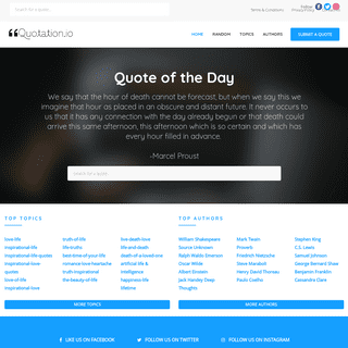 Quote of the Day - Quotation.io