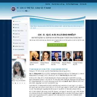 Bài Test IQ, Trắc Nghiệm IQ chuẩn quốc tế, Kiểm tra IQ test 2019
