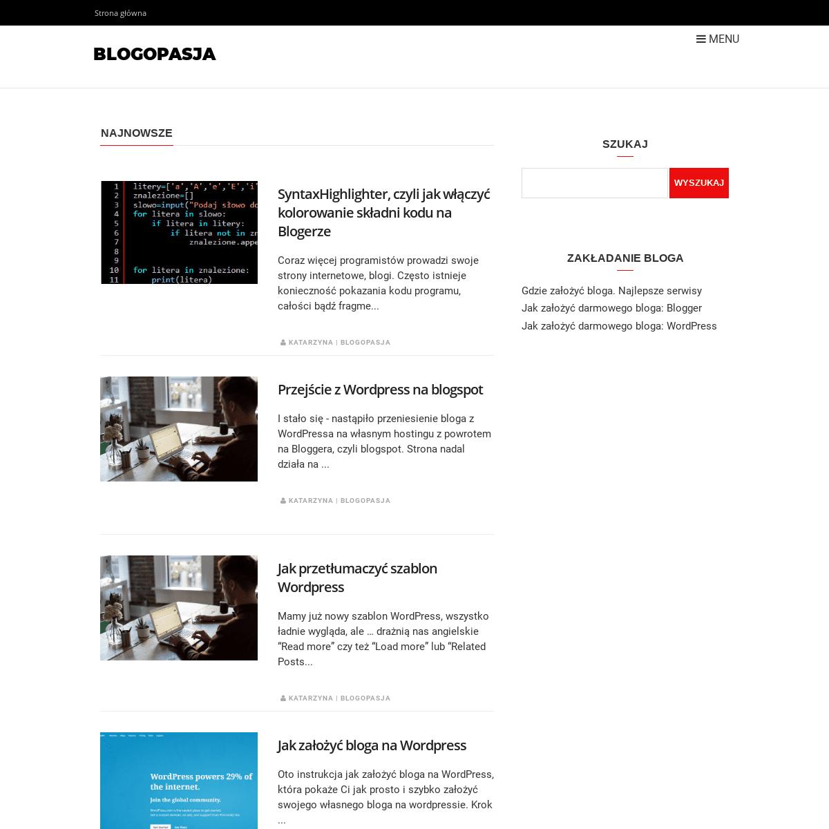 ArchiveBay.com - blogia.pl - Blogopasja- prowadzenie bloga, tutoriale, instrukcje krok po kroku