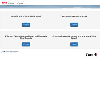 Services aux Autochtones Canada - Relations Couronne-Autochtones et Affaires du Nord Canada - Indigenous Services Canada - Crown