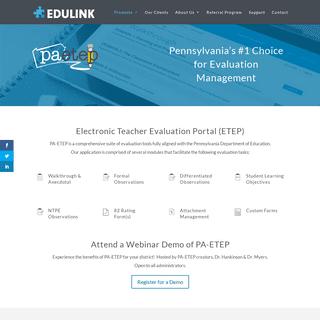Edulink Inc - PA-ETEP - Teacher Evaluations Software