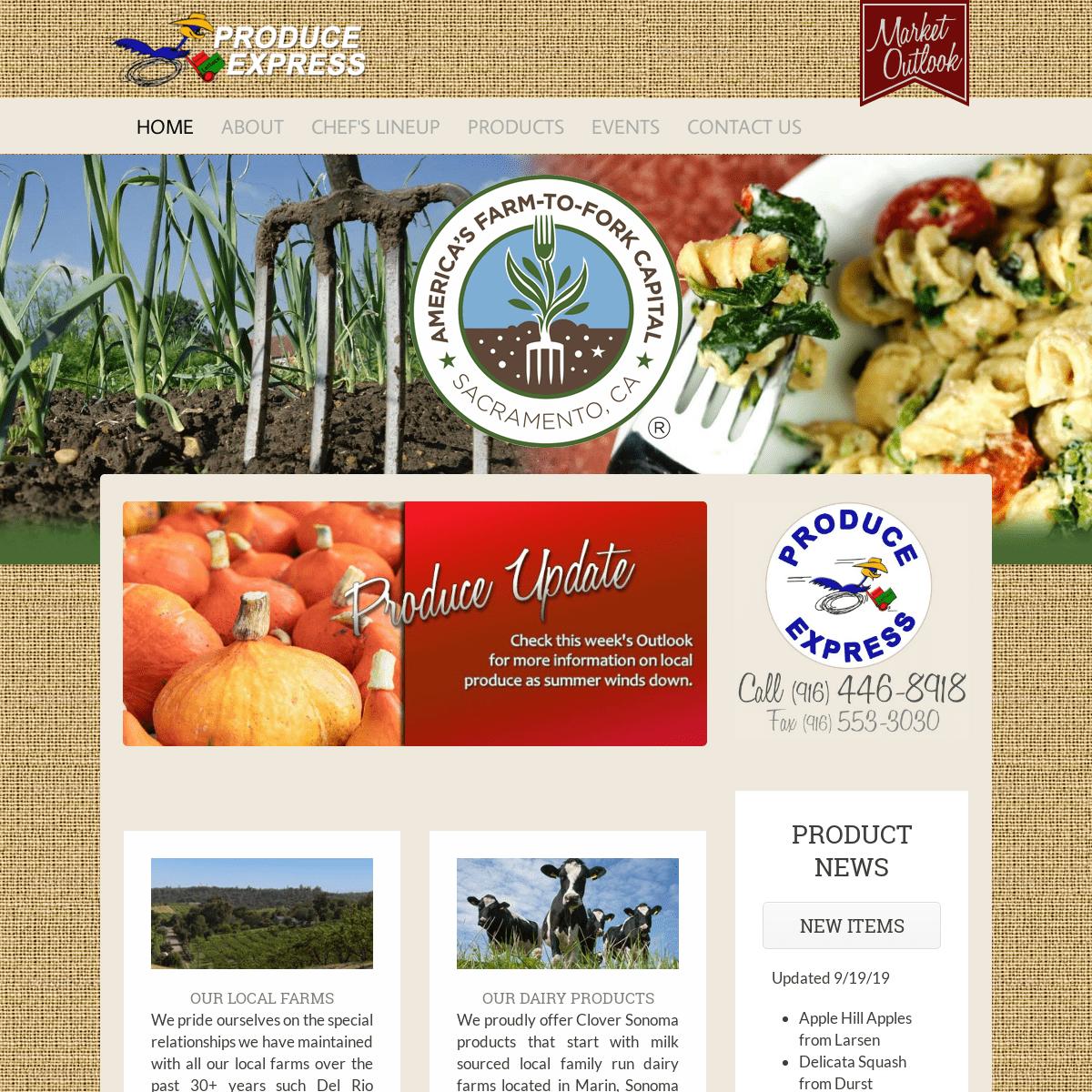 Home - Produce Express of Sacramento, California