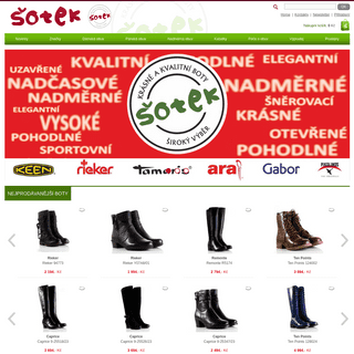 Kvalitní a pohodlné boty - ObuvSotek.cz