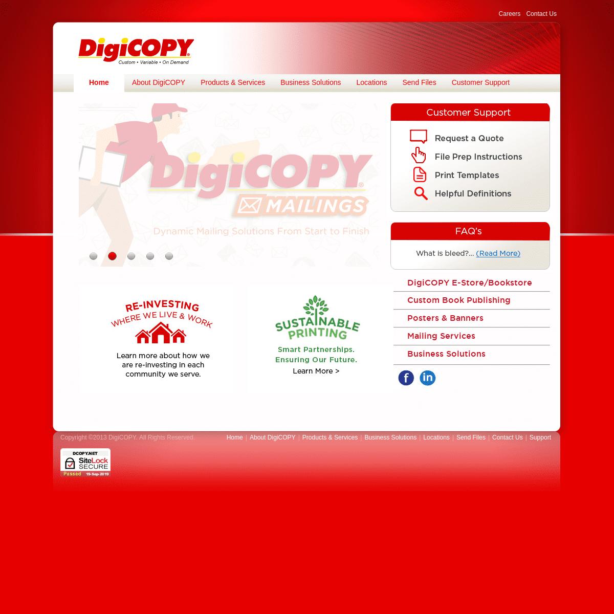 On Demand Digital Printing in Wisconsin - DigiCOPY