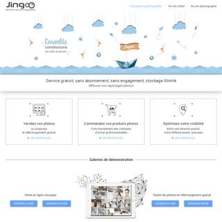 Jingoo - Solutions internet dediées aux photographes professionnels avec ou sans minilab, services gratuits pour présenter, ve