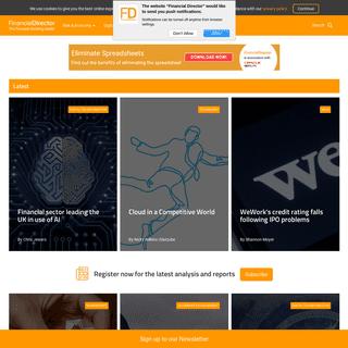 Homepage - Financial Director