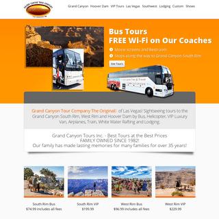 Grand Canyon Tours with the Grand Canyon Tour Company of Las Vegas - Grand Canyon Tours, Hoover Dam Tours, Las Vegas Tours, Bus