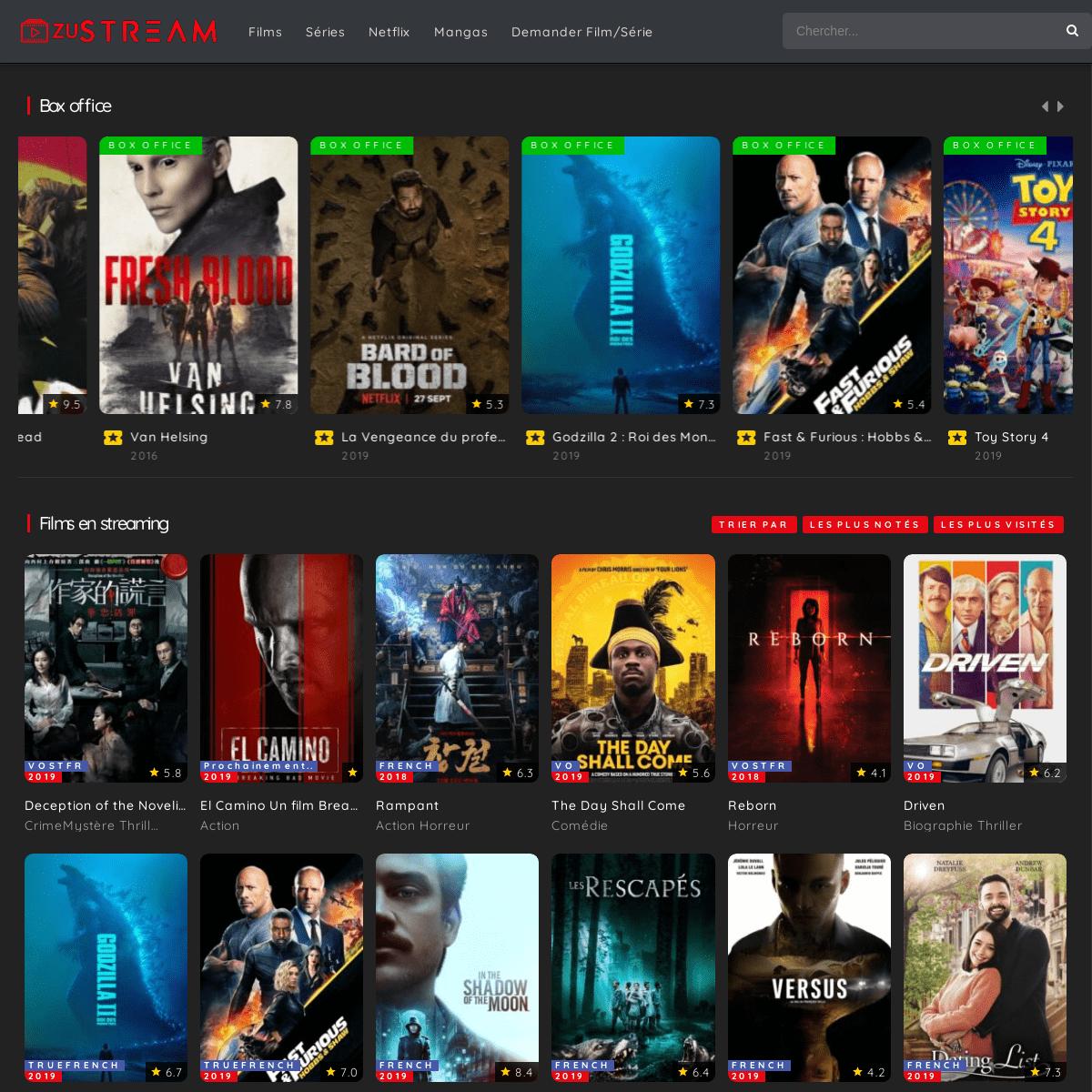 zuStream - Films streaming gratuit en VF, séries et mangas ...