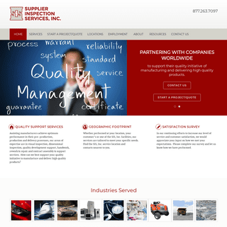 Homepage - Supplier Inspection Services