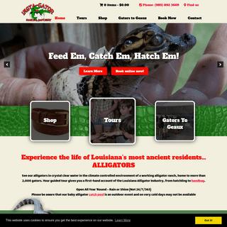 Alligator Hatchery & Guided Alligator Tours Near New Orleans LA at Insta Gator Ranch & Hatchery