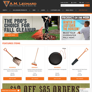 A.M. Leonard Tools for the Horticultural Industry since 1885.