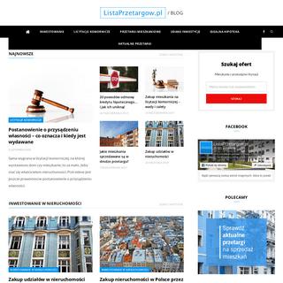 O inwestowaniu w nieruchomości - Blog ListaPrzetargow.pl