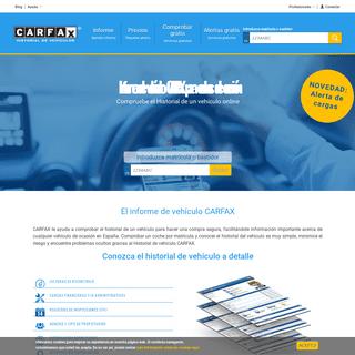 Revise el informe de vehículo CARFAX y compre con seguridad