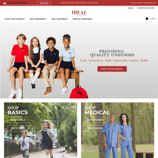 Ideal Uniform Store - The #1 online school uniform provider offering a huge selection of shirts, pants, plaid jumpers and skirts