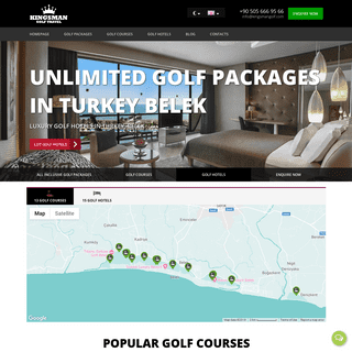 Kingsman Golf - Golf holidays in Belek,Antalya,Turkey.All Inclusive golf packages