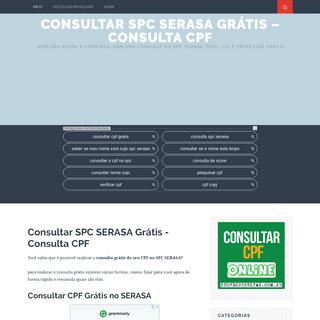 ArchiveBay.com - consultarcpfgratis.org - Consultar SPC SERASA Grátis - Consulta CPF