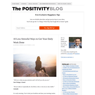 The Positivity Blog – Practical Happiness Tips — Simple Happiness Tips