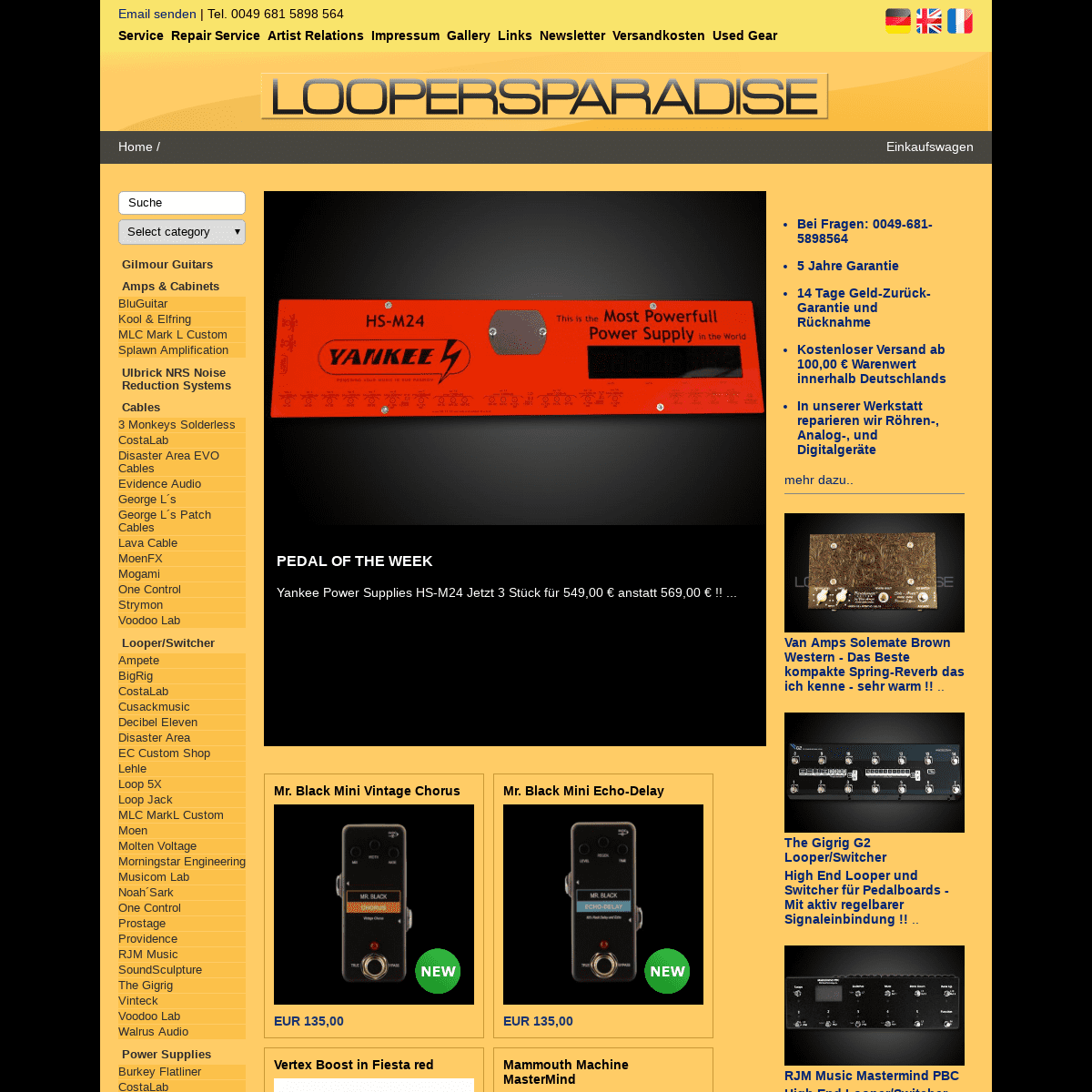 ArchiveBay.com - loopersparadise.de - Effektgeräte Saarbrücken Guitar-Racks Saarland Looper-Switcher