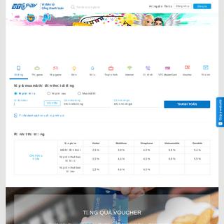 Ví điện tử - Cổng thanh toán trực tuyến VTC Pay - VTC Pay