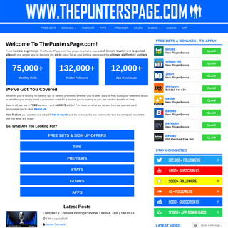 ArchiveBay.com - thepunterspage.com - Your Go-To Site For All Things Betting - ThePuntersPage.com