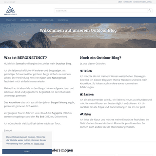 Outdoor und Wander Blog - BERGINSTINCT